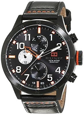 Tommy Hilfiger de los hombres reloj analógico cuarzo piel 1791136