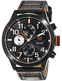 Tommy Hilfiger Herren-Armbanduhr Analog Quarz Leder 1791136