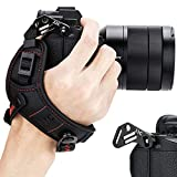 JJC Sangle de Poignet sans Miroir pour Appareil Photo Nikon Z7 Z6 Sony A7III A7II A7RIII A7RII A7SII A9 A6500 A6400 A6300 A6000 A5100 Fuji X-T3 X-T30 X-T20 X-E3 X100F X-PRO2 Panasonic G7 G9