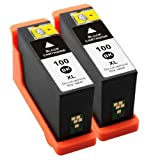 2 Druckerpatronen Kompatibel zu Lexmark 100XL Schwarz , Impact S305, Interact 605, Interpret S405, Intuition S505, Pro905, Pro805, Pro705, Prospect Pro205