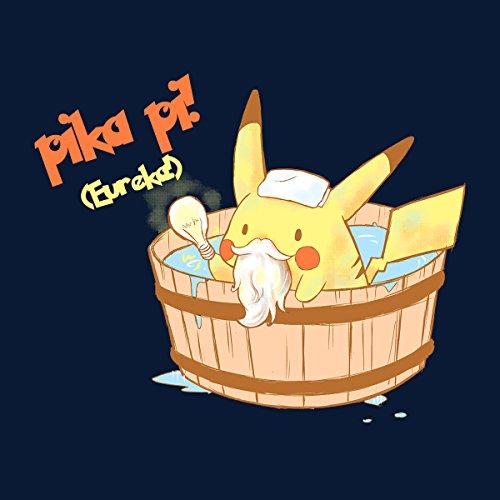 Pika Pi Eureka Pikachu Pokemon Men's Vest Navy Blue