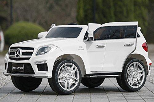 Kaufexpress Mercedes Benz GL63 AMG Jeep SUV Lizenz Kinderfahrzeug mit 2X 35W Motor Kinderauto Elektroauto Fernbedienung MP3 Anschluss in Weiß*