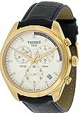 Orologio Tissot PR100 T101.417.36.031.00 Al quarzo (batteria) Acciaio placcato oro giallo Quandrante Argento Cinturino Pelle