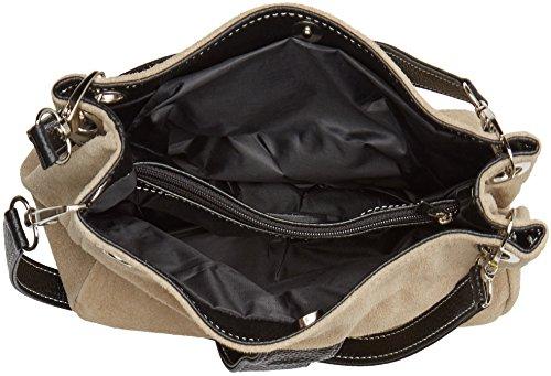 Chicca Borse Damen 10027 Shopper, 26.5 x 18 x 12 cm Grau (Fango)