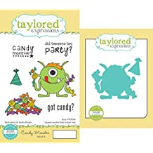 Taylored Expressions Cling Stamp and Die Set, 5.5-Inch by 3-Inch, Candy Monster by Taylored Expressions