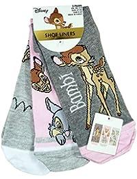 Licensed-Disney - Calcetines cortos - para mujer multicolor Talla única