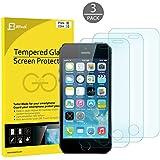 iPhone SE Protection écran, JETech 3-Pack Film Protection en Verre trempé écran protecteur ultra résistant Glass Screen Protector pour Apple iPhone SE 5s 5c 5 - 0318