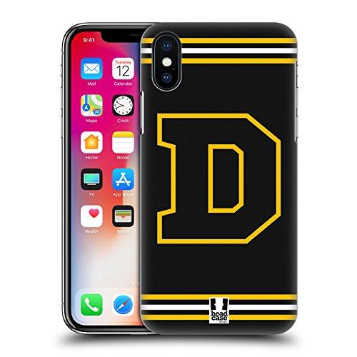 Head Case Designs Arancione C Team Del College Cover Retro Rigida per Apple iPhone X Giallo D