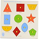 Skillofun Wooden Large 'Shapes' Shape Tray - Triangle, Multi Color