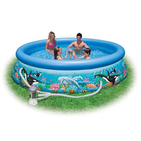 INTEX - INTEX Piscina easy+pompa 366x76 dec.