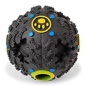 Chiens IQ Treat Ball - TianTa - Chiens Interactive IQ Treat Distributeur Ball Boule de Nourriture Naturel Caoutchouc Pour Les Petits et Moyens Taille Chien - 4.5 pouces