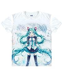 Vocaloid T-Shirt Hatsune Miku Kostüm Cosplay Weiß 7 Version