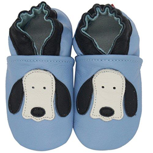 Carozoo Bleu De Longues Oreilles De Chien(Dog Long Ear Light Blue), Chaussures Bébé Semelle Souple Fille