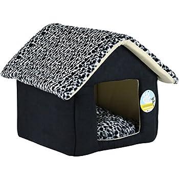 Me & My Pets Lit Igloo Imprimé Léopard Noir - Choix de taille