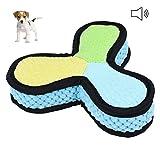 Petacc Quietschspielzeug Hunde Natürlich Hundespielzeug Unzerstörbar aus Latex Tuch