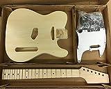 Coban Guitars HY190BR Guitare Électrique Kit de Bricolage pour Student and Luthier Projets - BLANC fixations, Full size