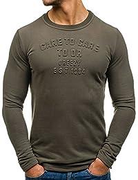 BOLF – Sweat-shirt á capuche – Manches longues – U-neck – Motif – Homme [1A1]