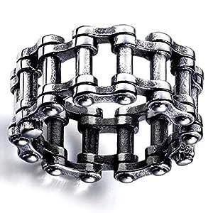 Caoni attraktive für Herren und Damen, modisch, Edelstahl, Steampunk, Vintage-Stil, Biker-Ring