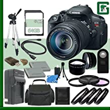 Canon EOS Rebel T5i Digital SLR Camera Kit With 18-55mm STM Lens + 64GB Green's Camera Package 2