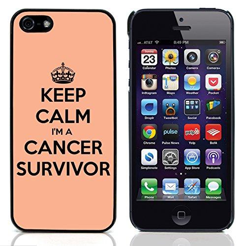 Graphic4You Keep Calm I'm a Cancer Survivor Design Harte Hülle Case Tasche Schutzhülle für Apple iPhone 5 und 5S Design #7