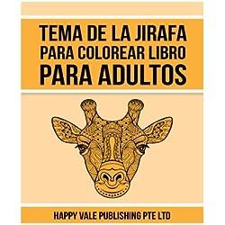 Tema De La Jirafa Para Colorear Libro Para Adultos