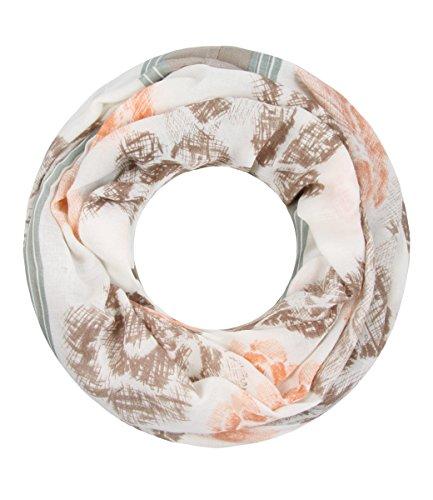 Majea Damen Loop Schal viele Farben tolle Muster Schlauchschal Halstücher (beige 13)