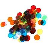 120 Piezas Juegos de 3cm Chips Fichas Marcadores Bingo 6 Colores
