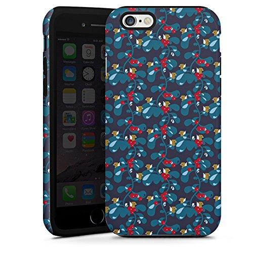 Apple iPhone 6 Housse Étui Silicone Coque Protection Oiseaux Bleu Bleu Cas Tough terne