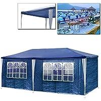 Vingo® polietileno Carpa 3x 9m con gruesa Acero Varillaje Pavillion de alta calidad como Refugio de lona y color a elegir, 3x6m Blau