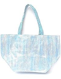 DIETZ Sommertasche XXL in metallic optik 63x38x31 cm (blau)