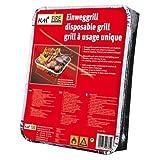 2 Packungen Einweggrills mit 450 g Holzkohle und Anzündpapier