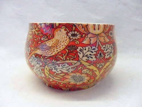 Heron Cross Pottery William Morris Motif Strawberry Thief Rouge Ouvert Sucrier