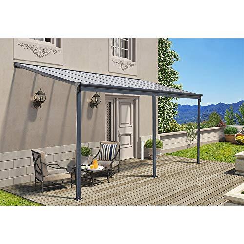 Home Deluxe - Terrassenüberdachung anthrazit - Maße: 312 x 303 x 226/278 cm - Inkl. komplettem Zubehör - verschiedene Größen