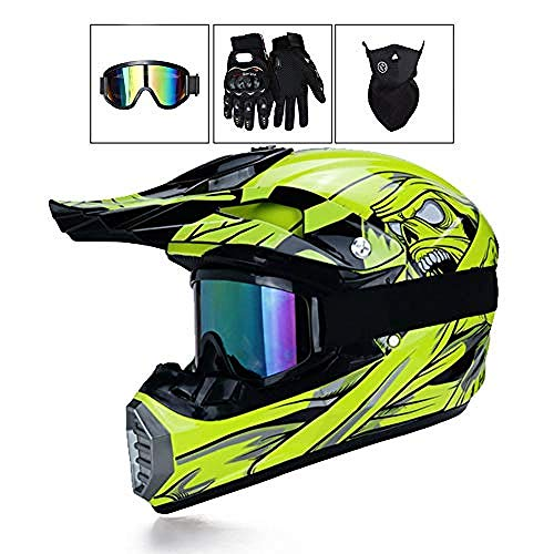 Casco de moto para hombre - Conjuntos de casco de motocross con...