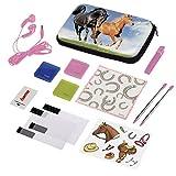 Hama Zubehör-Set für Nintendo 3DS XL, 13-teilig, Horse (inkl. Tasche, Schutzfolien, Kopfhörer, Stifte u.v.m.)