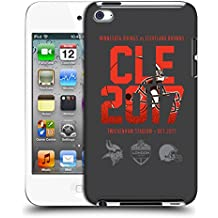 Official NFL Cleveland Browns Logotype 2017 London Games Teams Hard Back Case for Apple iPod Touch 4G 4th Gen