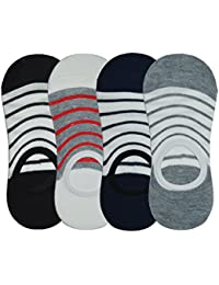 Me Stores Men's Loafer Socks Solid Socks with Silicon Support