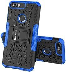 Bracevor Shockproof Huawei Honor 7C Hybrid Kickstand Back Case Defender Cover - Blue