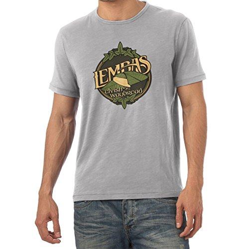 Texlab Lembas The Elvish Waybread - Herren T-Shirt, Größe L, Grau Meliert