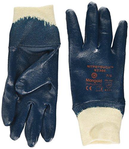 Ansell Nitrotough N250B Gants oléofuges, protection mécanique, Bleu, Taille 7 (Sachet de 12 paires)