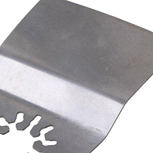 cnbtr Silber 52MM BREITE Edelstahl oszillierendes Werkzeug Quick Release Flexible Klinge Schaber Multi-Werkzeug, 50Stück