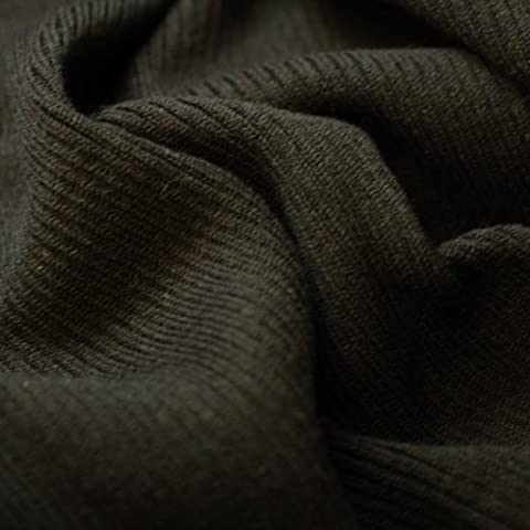 Neotrims Lycra Feel Stretch Knit Rib Fabric Trimming Garment, Cuffs & Waistbands and Welts. Light Weight Jersey Material for Apparel. Resilient Soft Natural Feel, 2x1 Ribbed Surface. Available in Black, Charcoal, Cream, Burgundy & Navy. Great Price - Black - 1 Meter