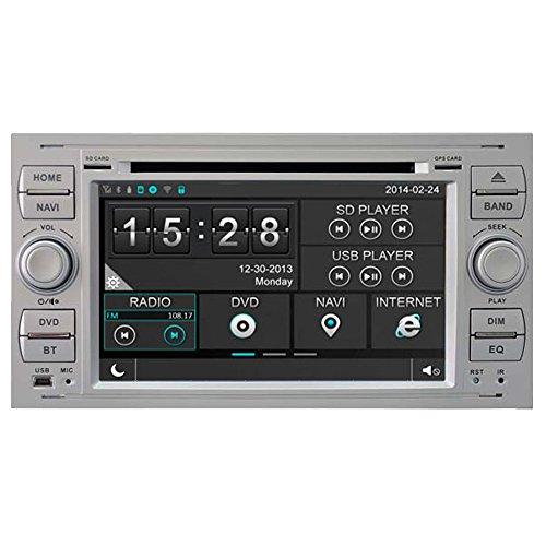 witson 17,8cm (7Zoll) WinCE Head Unit Autoradio für Ford Fiesta 05/2007-2009/FORD GALAXY 2005-2007/c-max-s-max 2005-2007/Fusion 2006-2011, Ford Transit ab 2005, Kuga 2008-2011/Foucs II-07DVD-Player für Auto Radio Navi GPS Navigationssystem, unterstützt SD/USB/iPod/iPhone/3G/Video/DVR/Virtual Memory CD/Bluetooth für Freisprecheinrichtung, Lenkrad-Steuerung/Rückfahrkamera (Autoradio mit GPS) (2007 Ford Focus Auto Stereo)