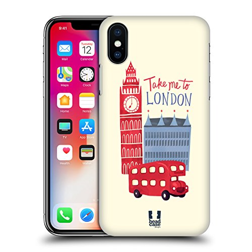 Head Case Designs Union Jack Sognando Londra Cover Retro Rigida per Apple iPhone X Viaggiare