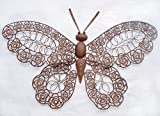 Dekorativer Schmetterling aus Metall, Wanddekoration aus Metall, Rost-Optik