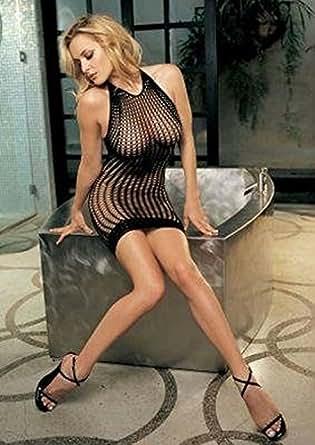 Sexy Fishnet Dress in Black