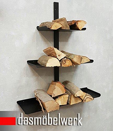 Chimenea de madera, soporte de madera Cesta de madera chimenea de pared madera Estantería Estante Precio recomendada 179& # x20AC;