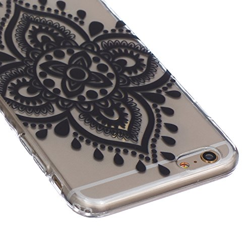 iPhone 6S plus Hülle,iPhone 6S plus Case, iPhone 6 plus Silikon Cover - Felfy Ultra Slim Klare Transparent Gel Klar Crystal Durchsichtig Flexible Elastisch Biegsam weißer Schmetterling Muster Schutzhü Chinese Knot