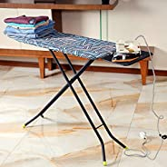 Royalford 110 x 34 cm Ironing Board with Steam Iron Rest, Heat Resistant, Contemporary Lightweight Iron Board