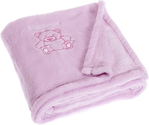 Playshoes 301700-14 Baby Set Fleece, Babydecke, rosa, 75 x 100 cm